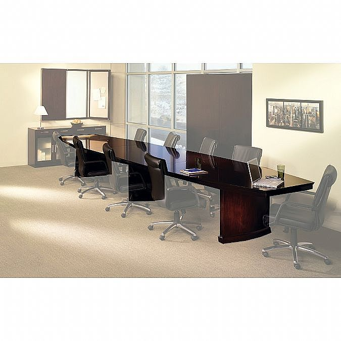 Sorrento Rectangular Or BoatShaped Conference Table - 18 foot conference table