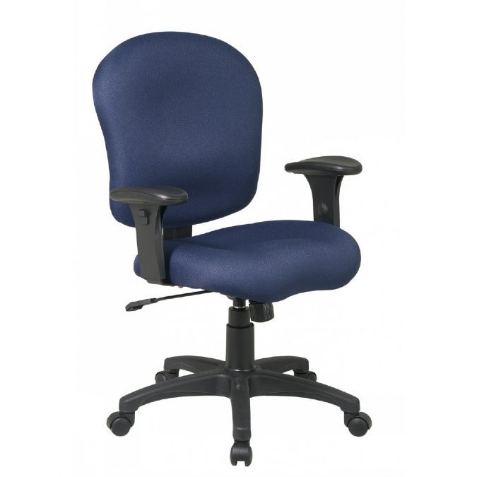 Sculptured Task Chair With Adjustable Arms
