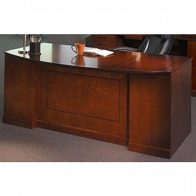 Sorrento Double Pedestal Desk Bow Front Pbf Ff