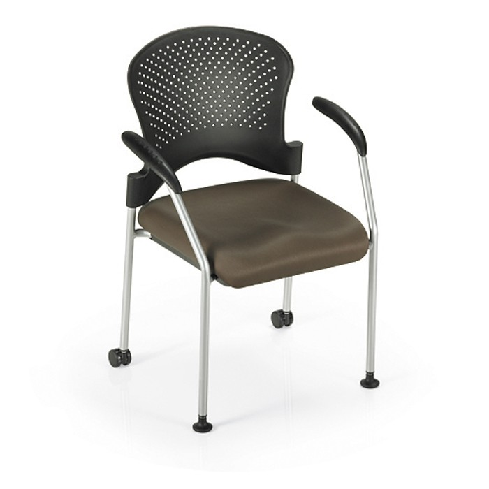 office master sg2k stacking guest chair-padded fabric seat-casters