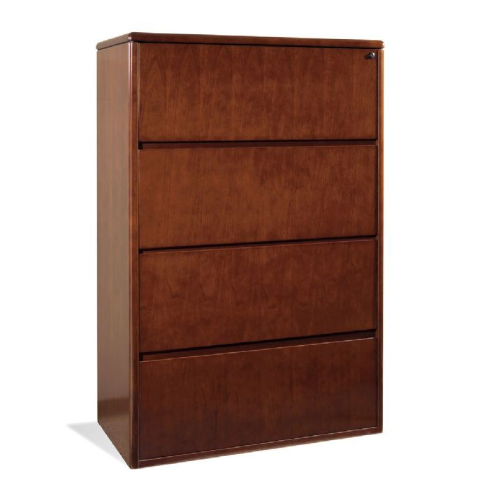 Drawer Lateral File 37X20X56H Dark Cherry Wood