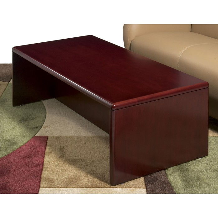 coffee table 48x24x16 dark cherry wood. Black Bedroom Furniture Sets. Home Design Ideas