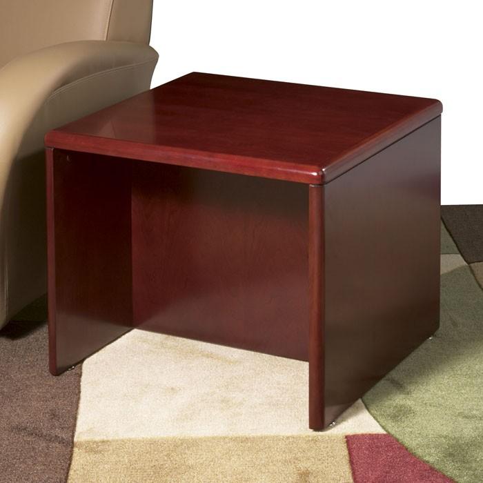 End Table 24x24x20 Dark Cherry Wood