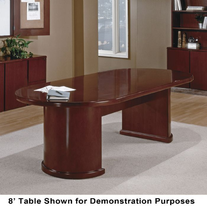 Ft Racetrack TableDesk Dark Cherry Wood - Cherry conference room table
