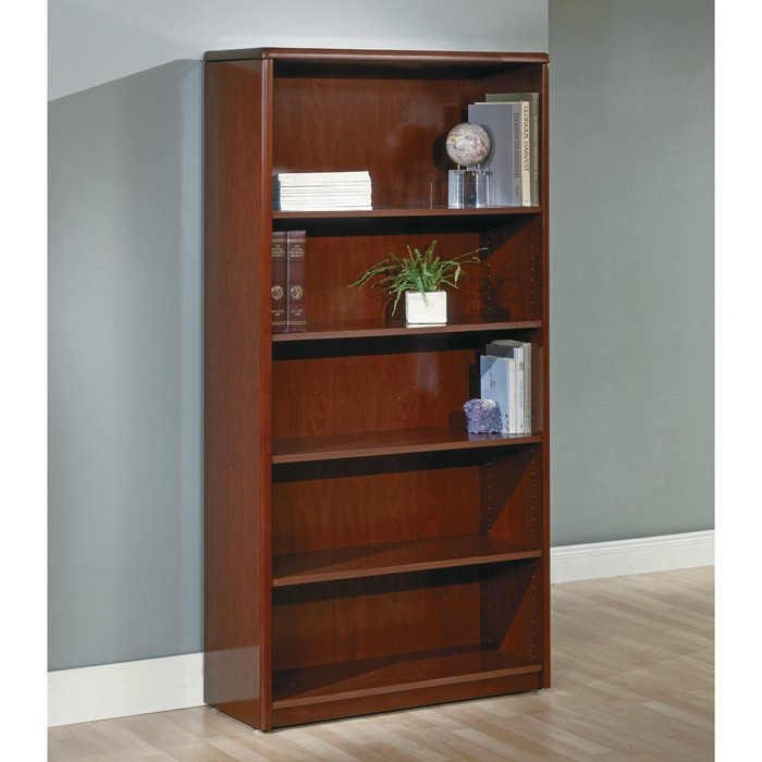 Shelf bookcase inch dark cherry wood