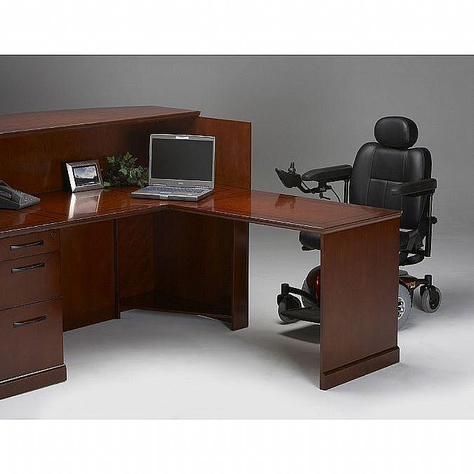 Sorrento Reception Desk With Veneer Counter Right Hand