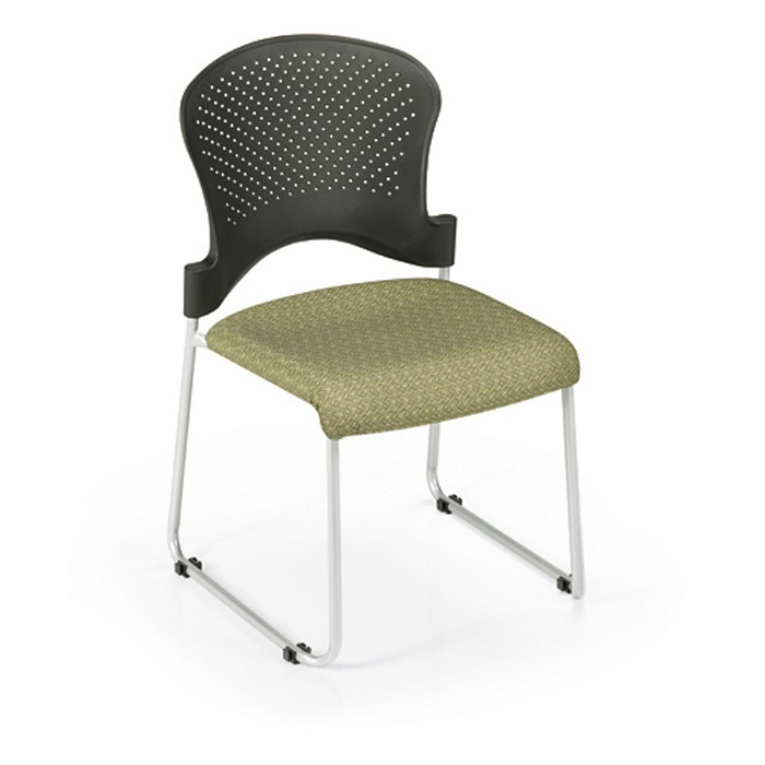 Office Master St200c Stacking Guest Chair Padded Fabric Seat