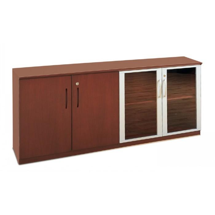 napoli low wall cabinet with doors wood glass door combination. Black Bedroom Furniture Sets. Home Design Ideas