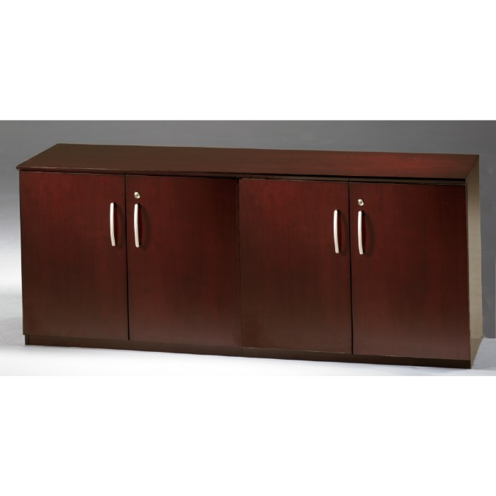 Napoli Low Wall Cabinet with Doors-All Wood Doors