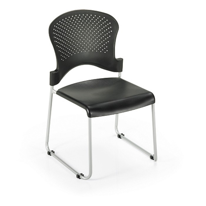 office master st200 stacking guest chair black plastic seat