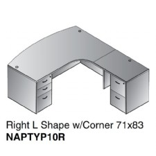 store products WT SHWS ship shape corner workstation