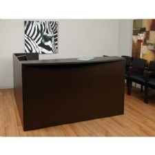 Napa Reception Station 71x71x42H No Drawers, Espresso