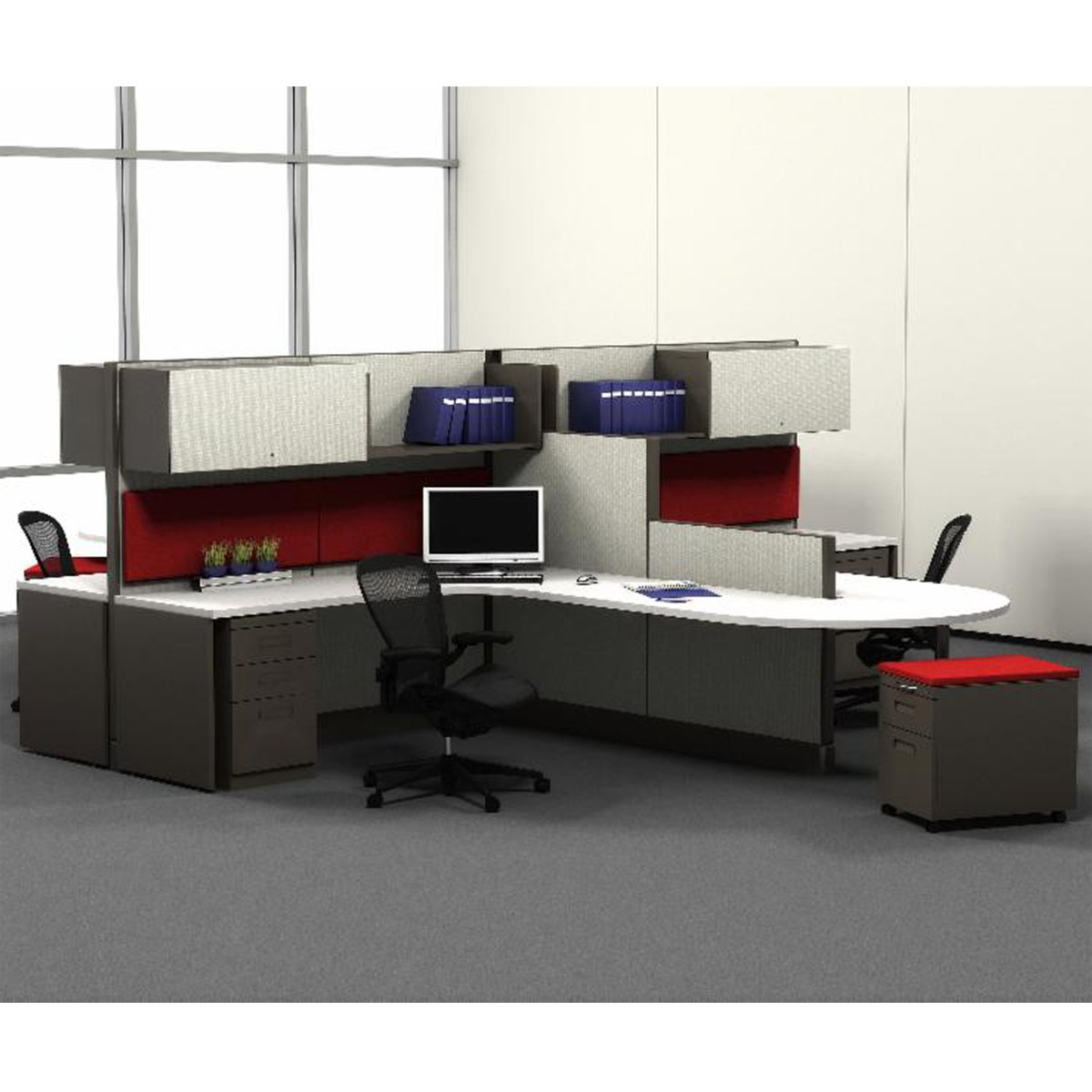 custom re-manufactured herman miller modular office furniture systems