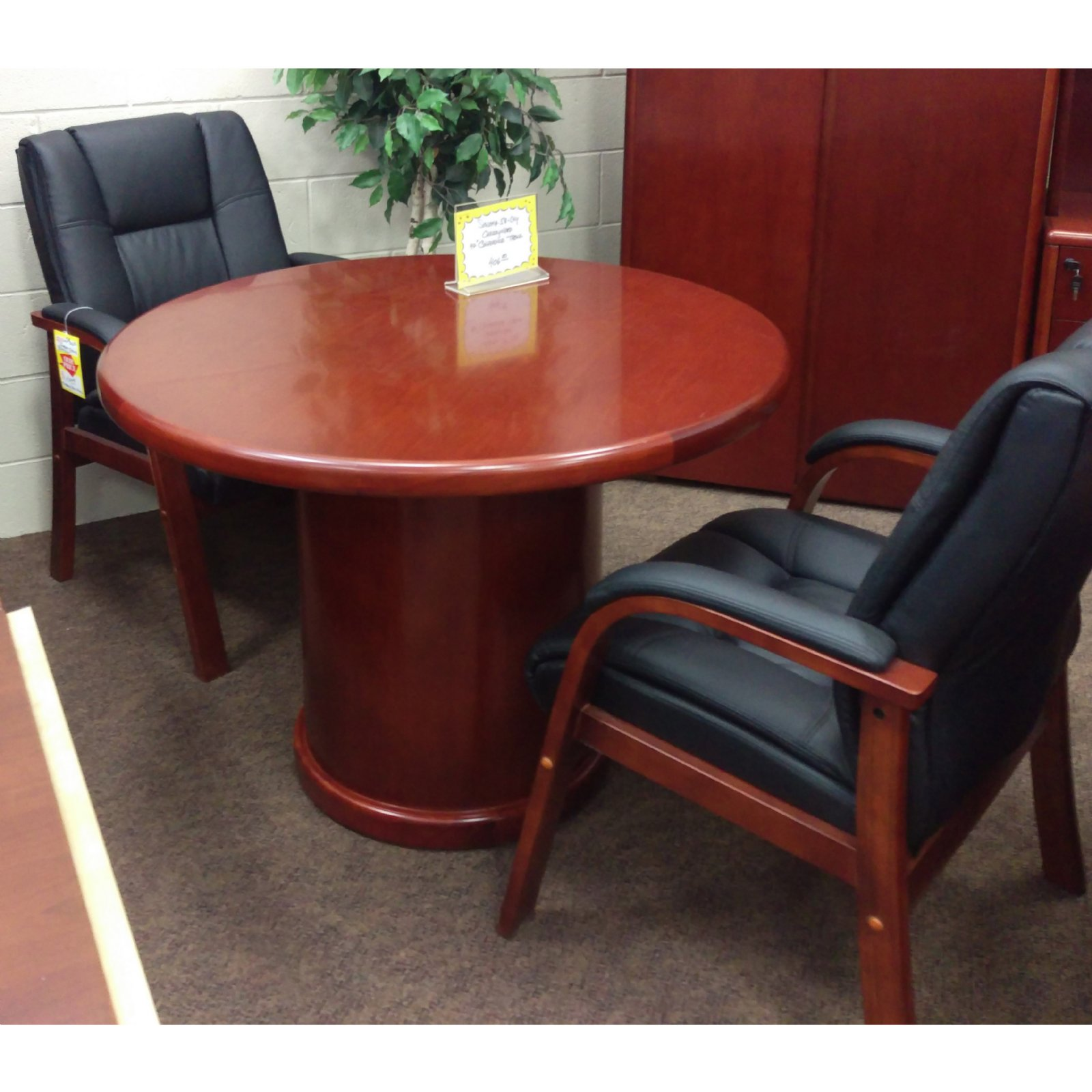 Blow Out Sale Executive Office Desk Suite In Dark Cherry