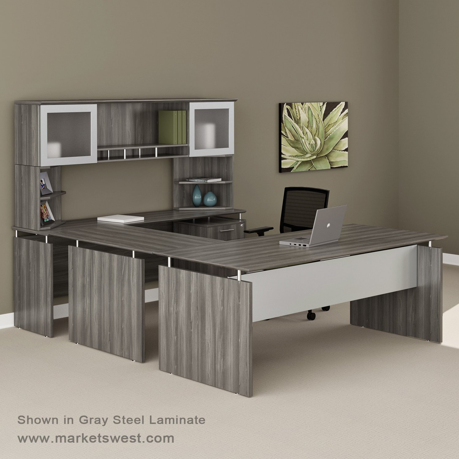 medina series straight front executive ushaped desk suite 39 right handed