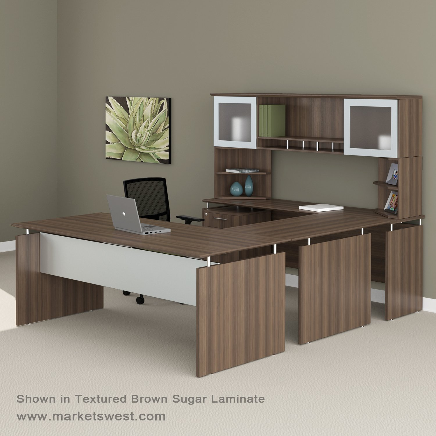 hutch product desk shipping overstock u glass frosted home free plus with door bestar garden today