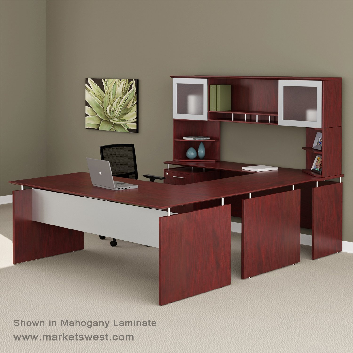 Attractive Medina Series Straight Front Executive U-Shaped Desk Suite #40  OF46