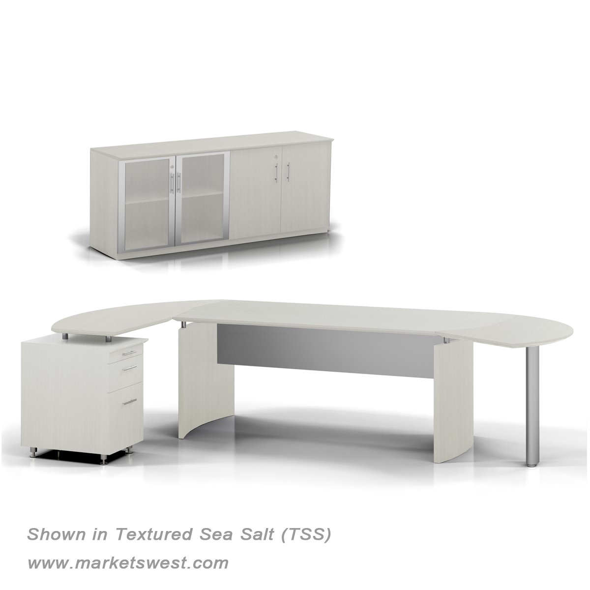 Na Series 63 Executive L Shaped Desk Suite 8 Left Handed W Storage Credenza