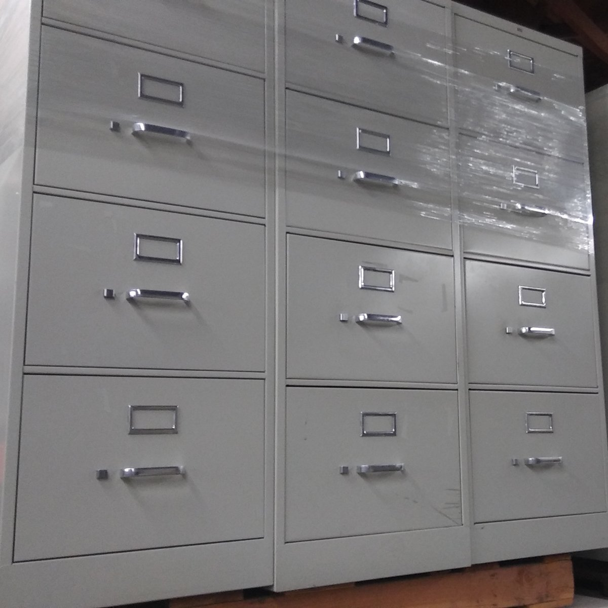 Image of: 4 Drawer Hon Vertical Legal Size File Cabinets Used