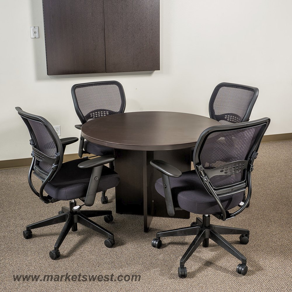 42 Inch Round Conference Table Espresso Or Urban Walnut