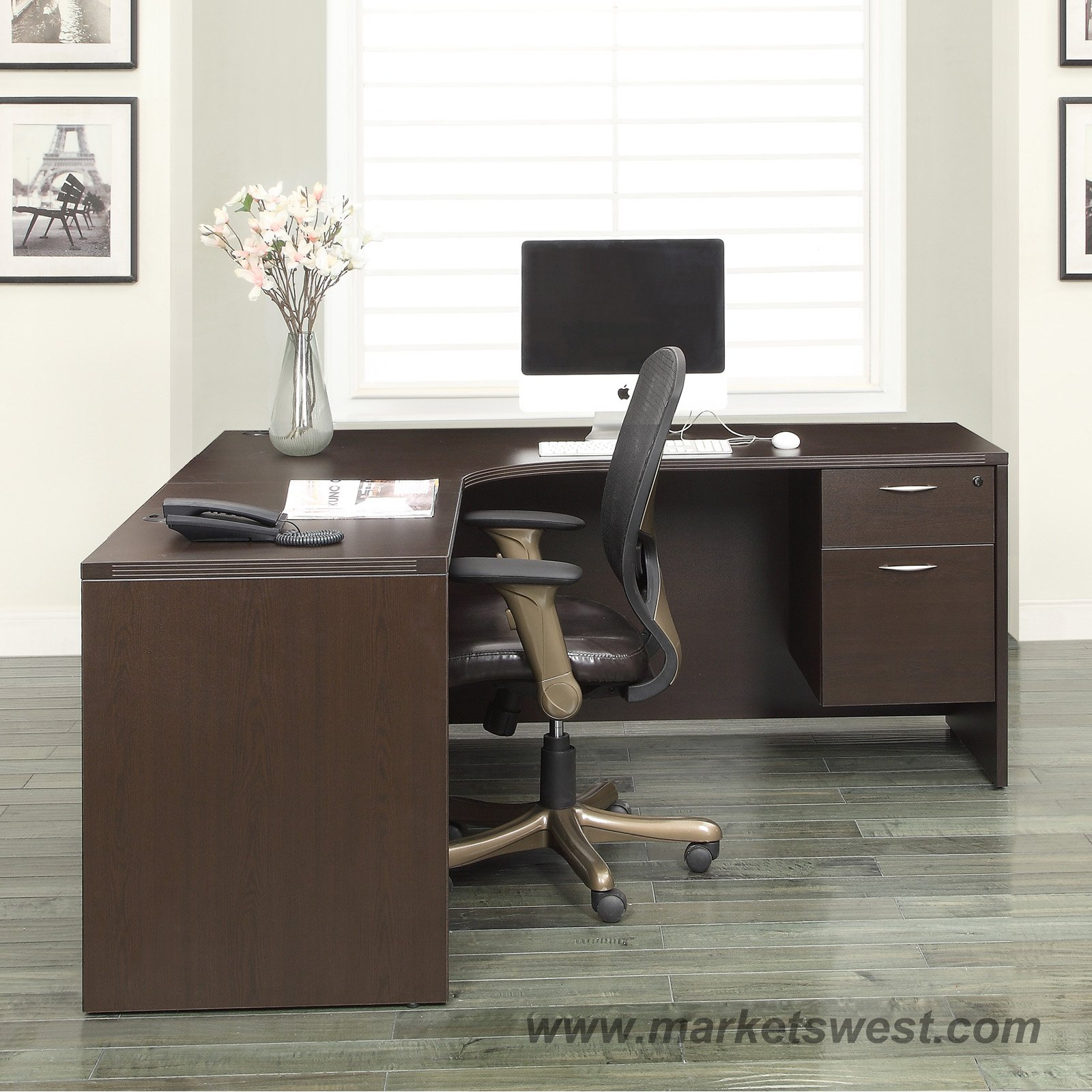 L Shape Desk 72 Quot X72 Quot With Computer Corner Espresso Or