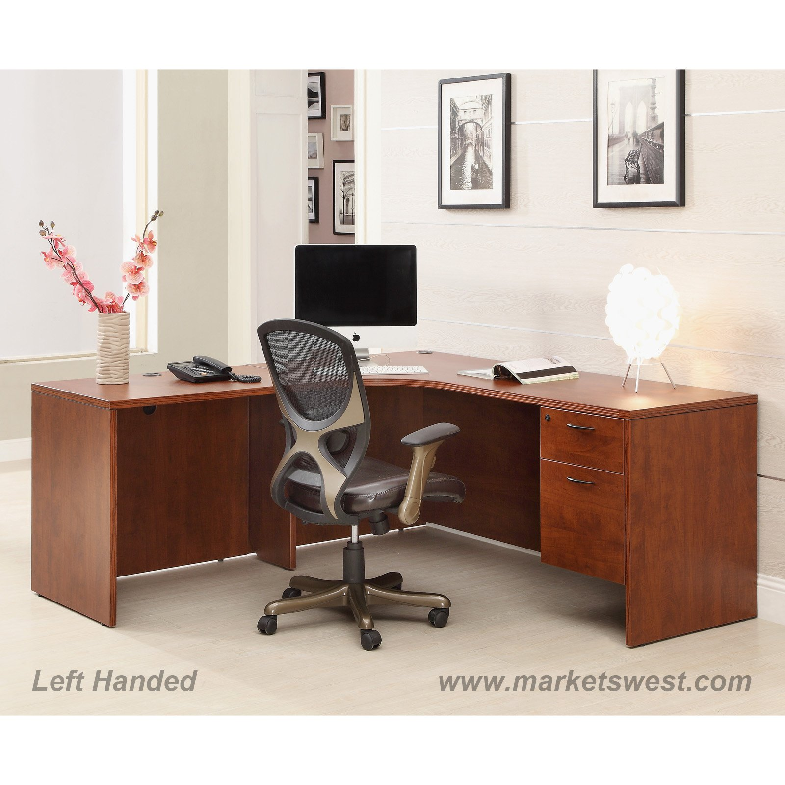 L shape desk 72x72 with computer corner cherry or mahogany watchthetrailerfo