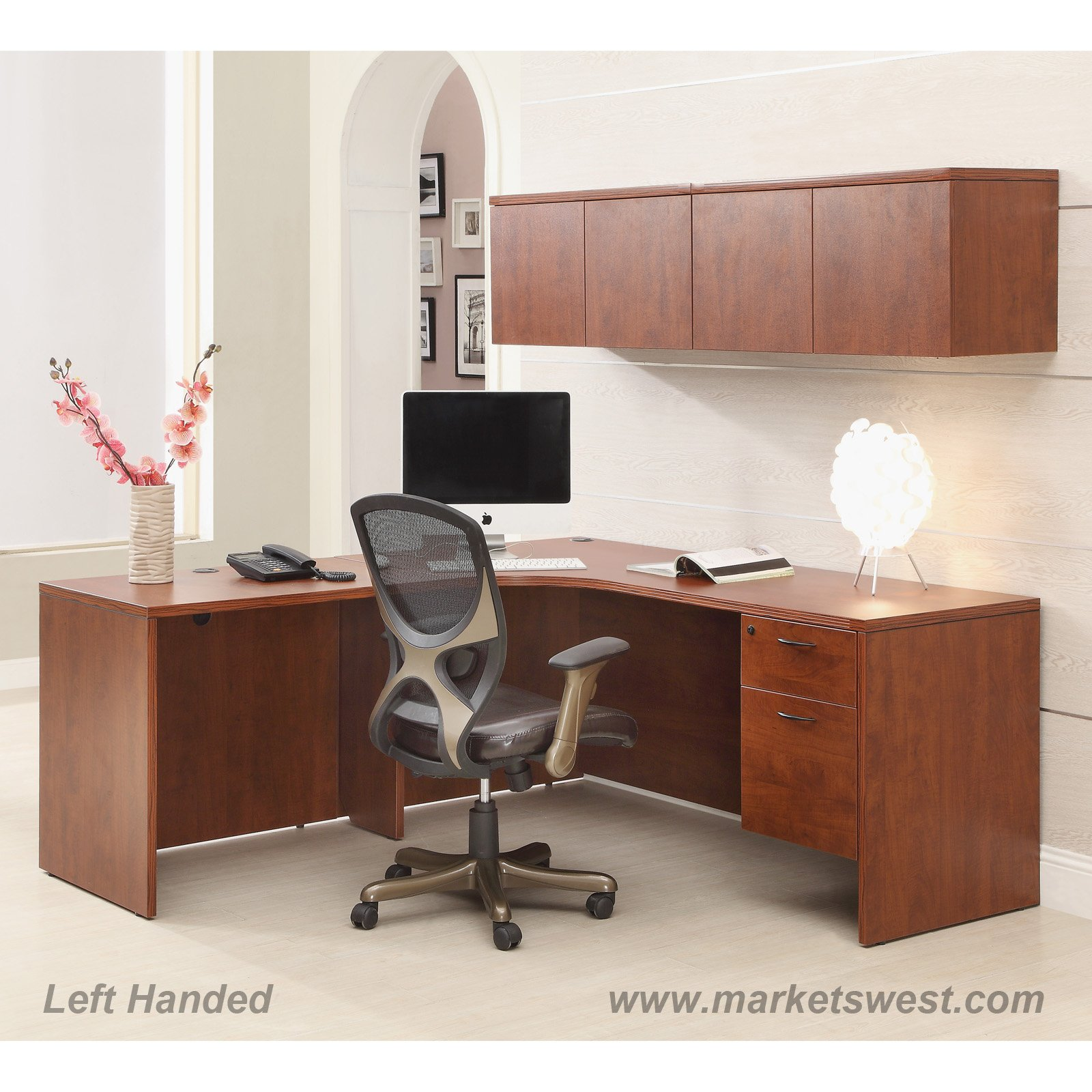 L Shape Desk 72 X72 With Computer Corner Wall Mount
