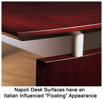 Napoli desk surfaces have an italian influenced ...