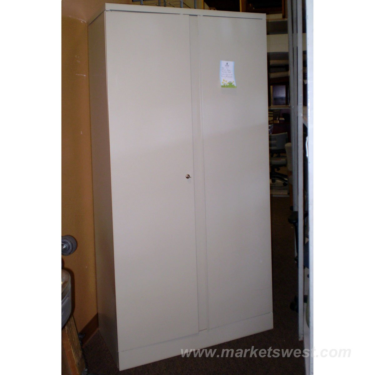 2 Door Office Star Storage Cabinet 36 W X 18 D X 72 H Used