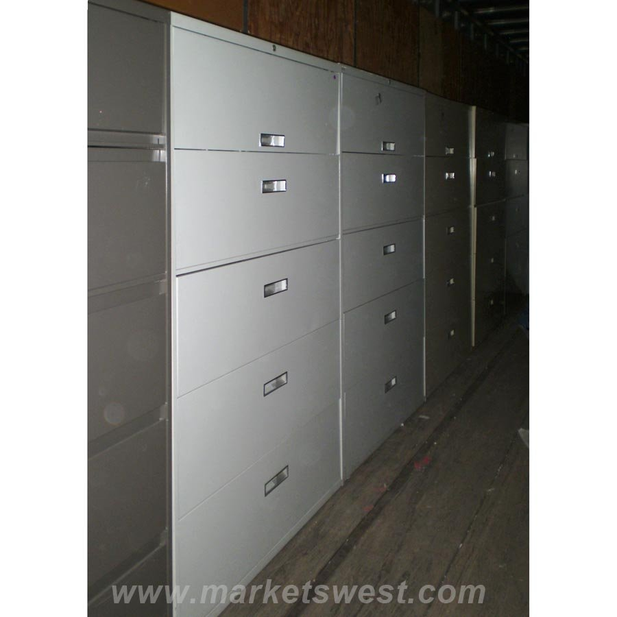 5-Drawer Lateral File Cabinets-Used
