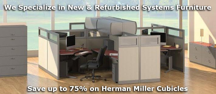 Refurbished Herman Miller Cubicles and Modular Systems Furniture