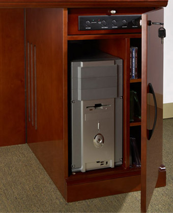 Sorrento Reception Desk With Granite Counter Left Hand